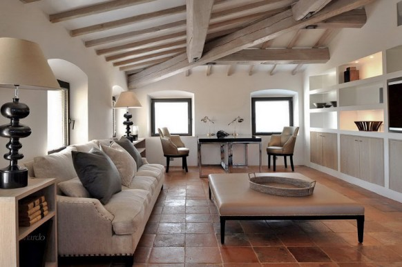 rustic italian living room