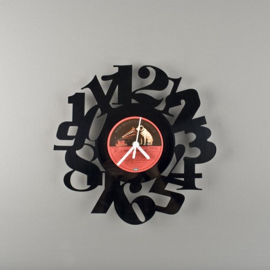 vinyl clock3 recycled art