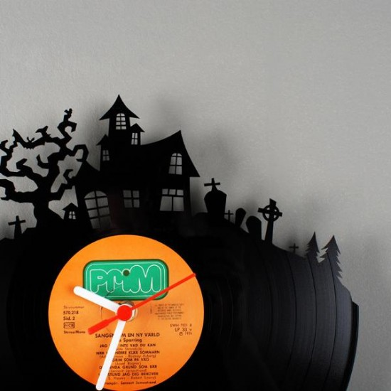 vinyl clock5 recycled art