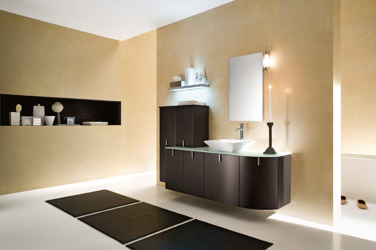 50 modern bathrooms for Contemporary bathroom vanity lighting
