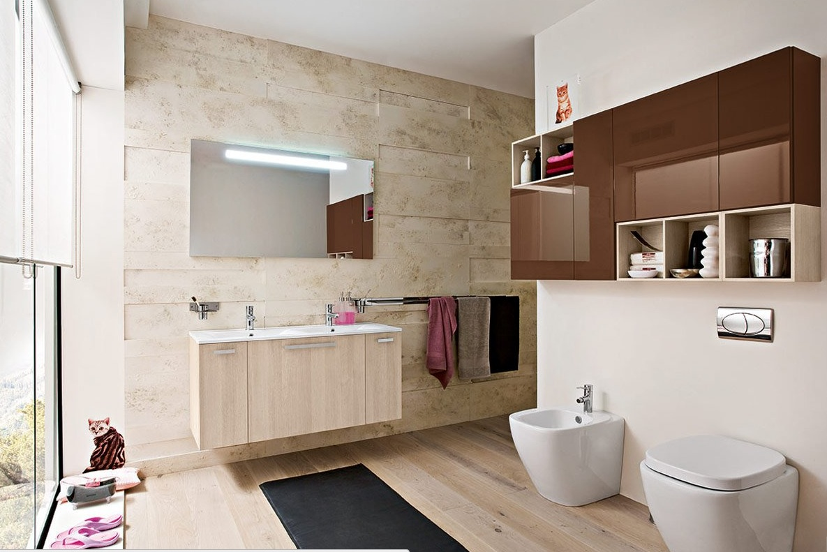 50 modern bathrooms for Idee deco salle de bain blanc et beige