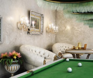 beautiful victorian pool room