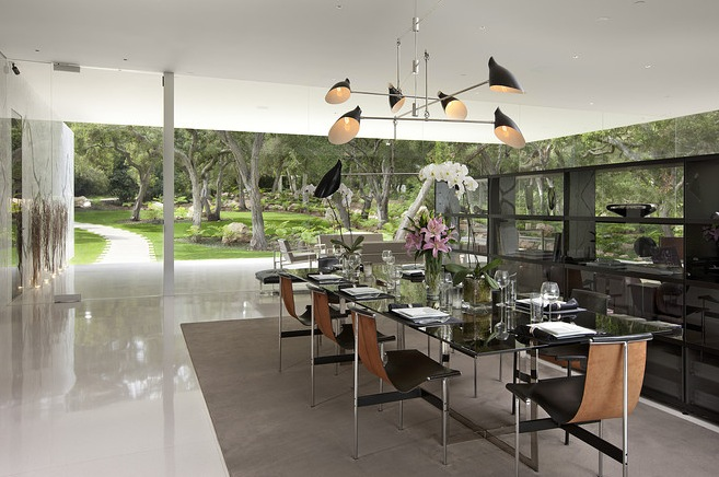 luxury dining transparent walls