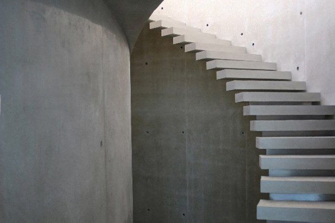 white spiral staircases