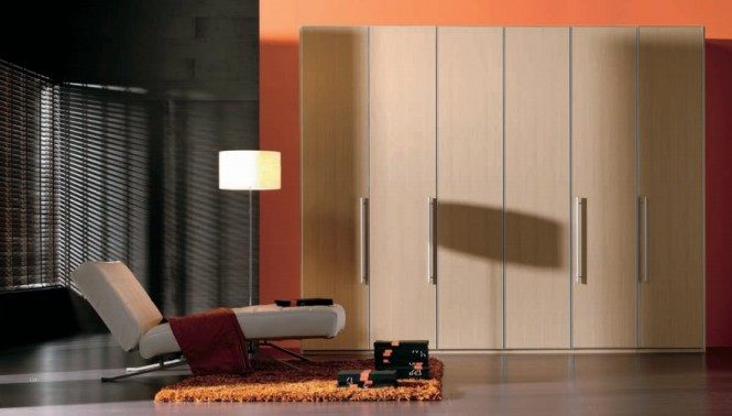 wood finish wardrobe