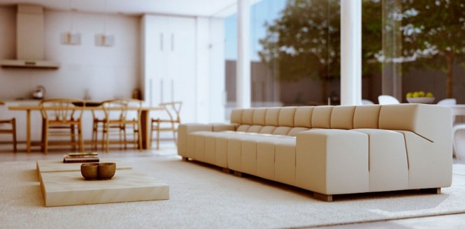 modern living room couch