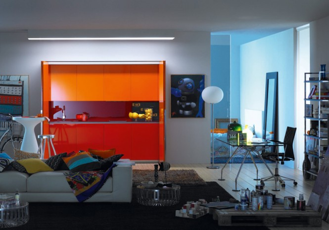 4 orange kitchen