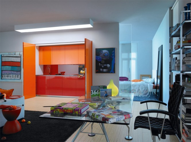 6 orange kitchen