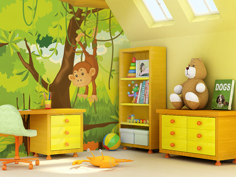 Photo wallpapers for every room for Child mural wallpaper
