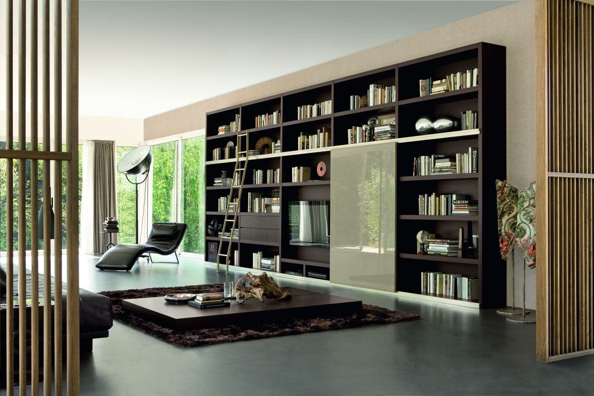 Bookshelf Wall Living Room 1200 x 800