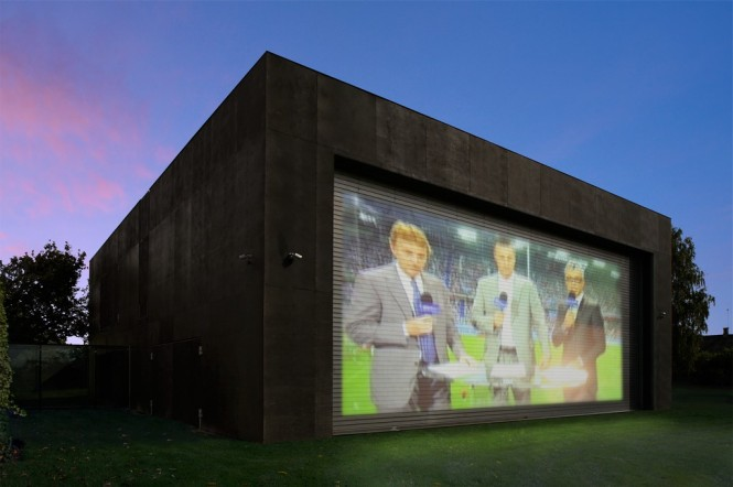 house wall projection