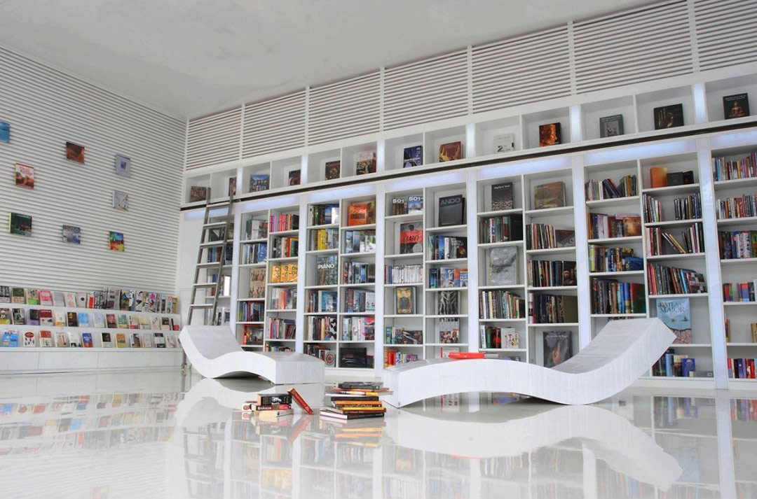 large wall bookshelf