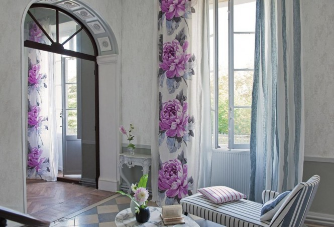 spring flower wall curtains