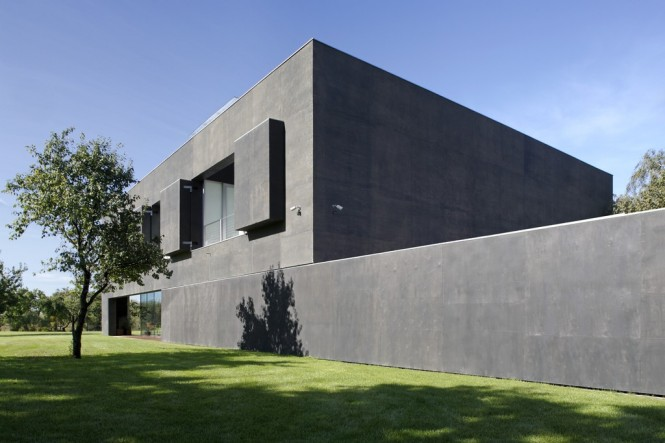transformer house with windows open