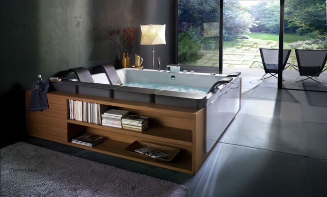 Italian design company BluBleu designed this reclining tub. More on that here.