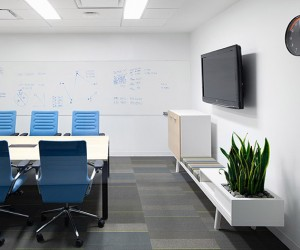 clean simple meeting room