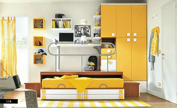 efficient space design in girls bedroom