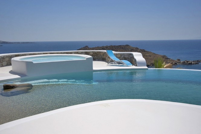 greece villa pool