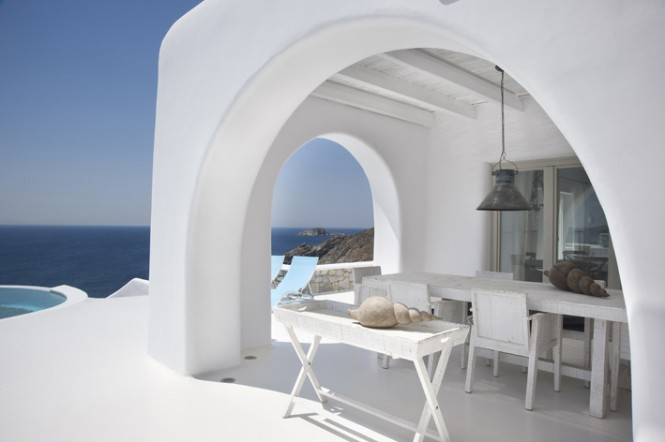greece villa view