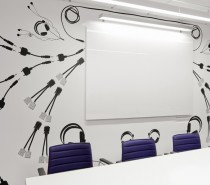 meeting room art Skype office