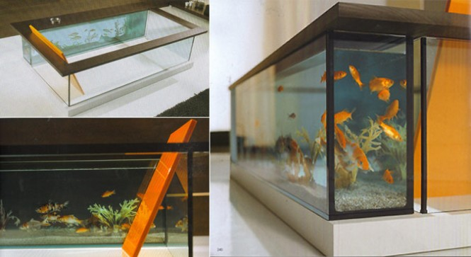 Perhaps a professional scuba diver or even a marine biologist might be as fish-friendly as required of the homeowner who buys this, the $14,500 Moody Acquario. One question lingers: how does one clean out the fish tank? [Via]