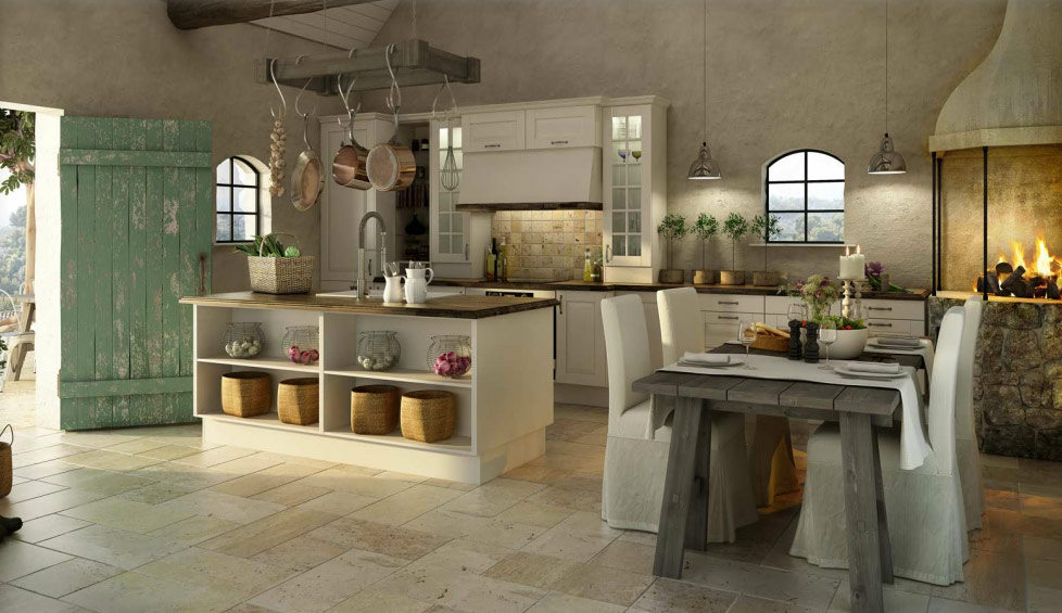 rustic Norwegian kitchen