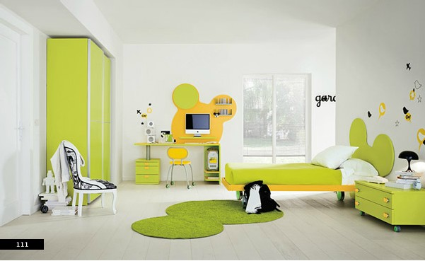 semi-cartoon color kids bedroom