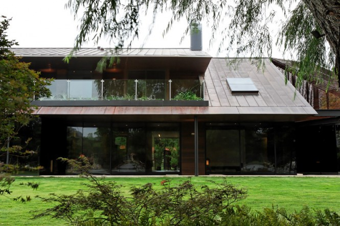 A good deal of glass, steel, and new details were used to completely reinvent the home.