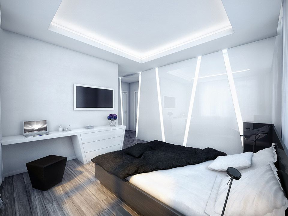white and black bedroom2