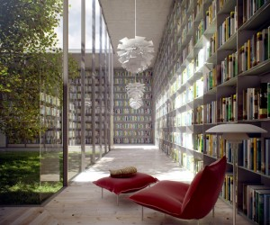 Library with Courtyard