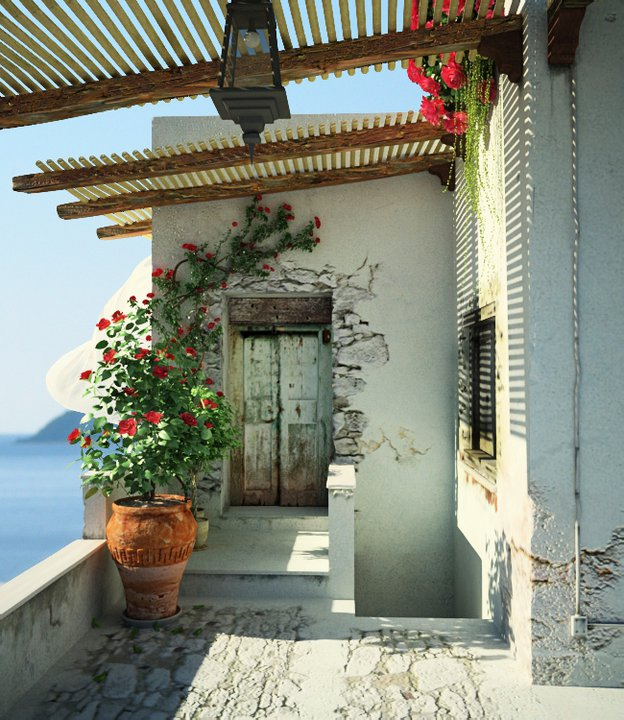 This rustic, beach-side hideaway, is quintessentially Mediterreanean and simply, gorgeous. George Krallis