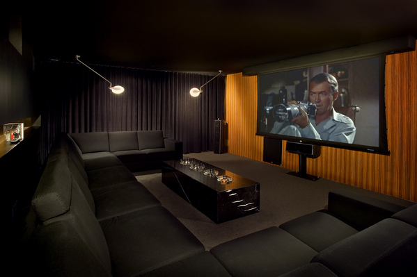A 12-person home theater was installed.