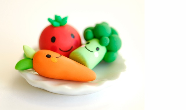clay veggies