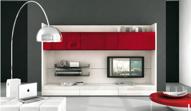red plastic tv wall mnt