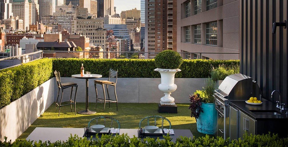 Urban gardens - Rooftop terrace beautiful and fresh rooftop decorating ideas ...
