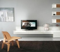 white tv wall mount