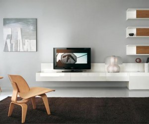 Design Home Furniture on Transformative Yo  Home  Big Design In A Small Space Modern Tv Wall