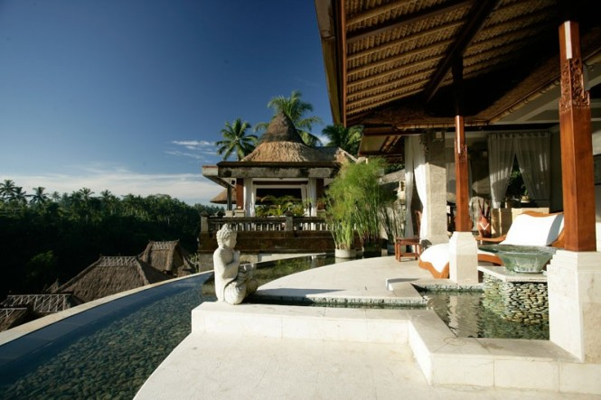 The luxury hotel chain describes the architecture and design of their Bali counterpart as harmonious with nature and full of warm light, with beautiful views and a soothing atmosphere overall.