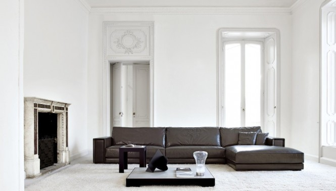 Busnesli Brown and White Large Living Room