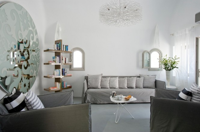 grace santorini white living area