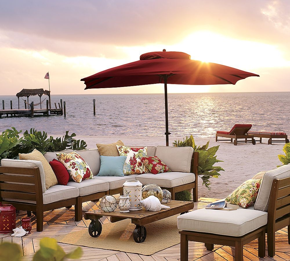 Outdoor garden furniture by pottery barn for Cool outdoor furniture ideas