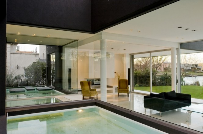 remy indoor pool and glass walls