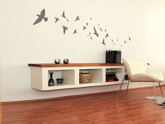 wall sticker flock of birds