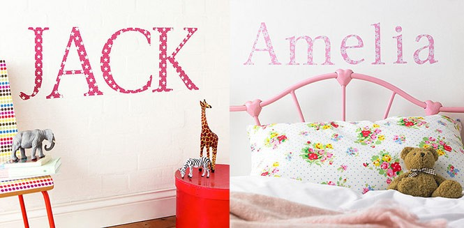 wall sticker names