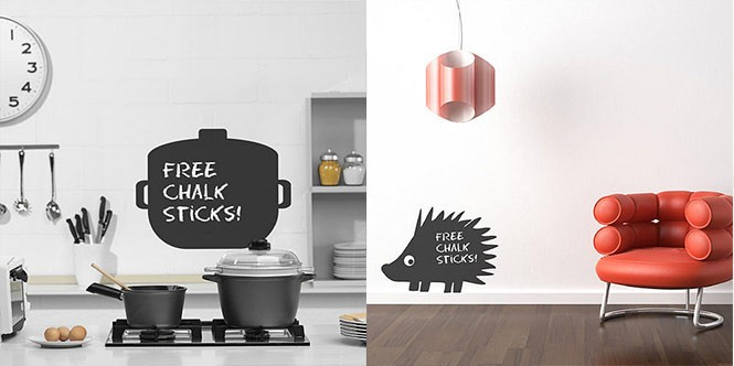 wall stickers chalk boards