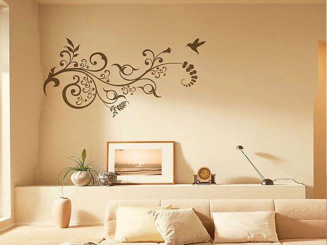 wall stickers floral motif