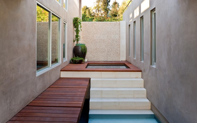 blue jay way interior pool zen