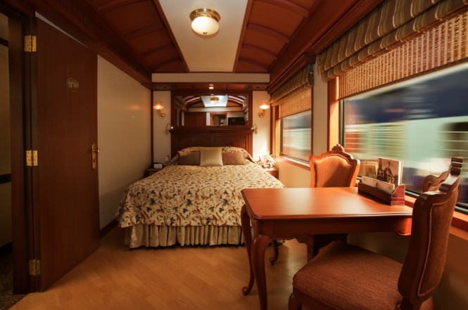 maharaja express bedroom and side table