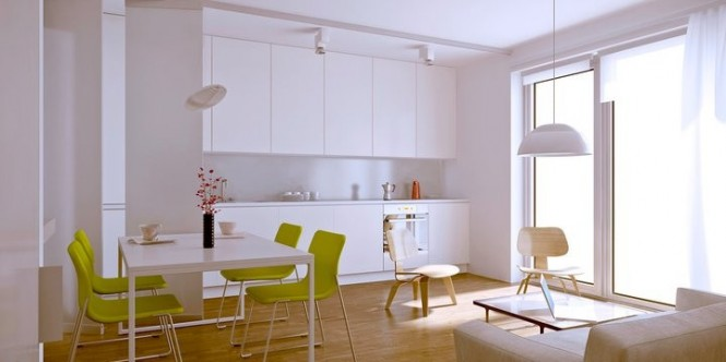 polish firm living kitchen and dining