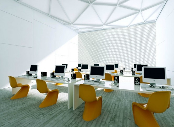 polish firm white and orange offices